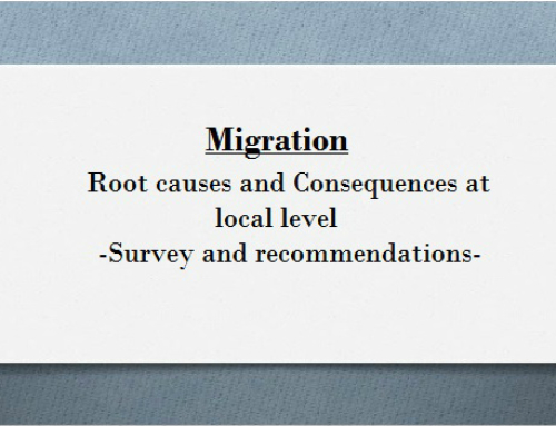 """""""Migration: root causes & consequences at local level – Survey & recommendations"""""""