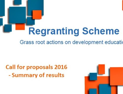 Regranting Scheme: grass root actions on development education