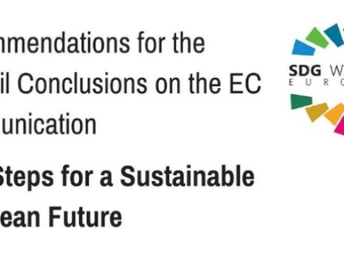 SDG Watch Europe delivers its Recommendations to support a sustainable future